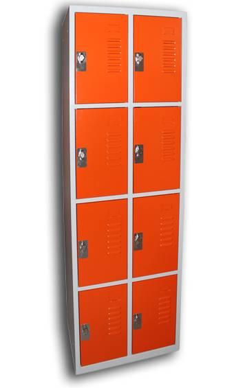 Vestiaire multicases 8 casiers sur 2 colonnes