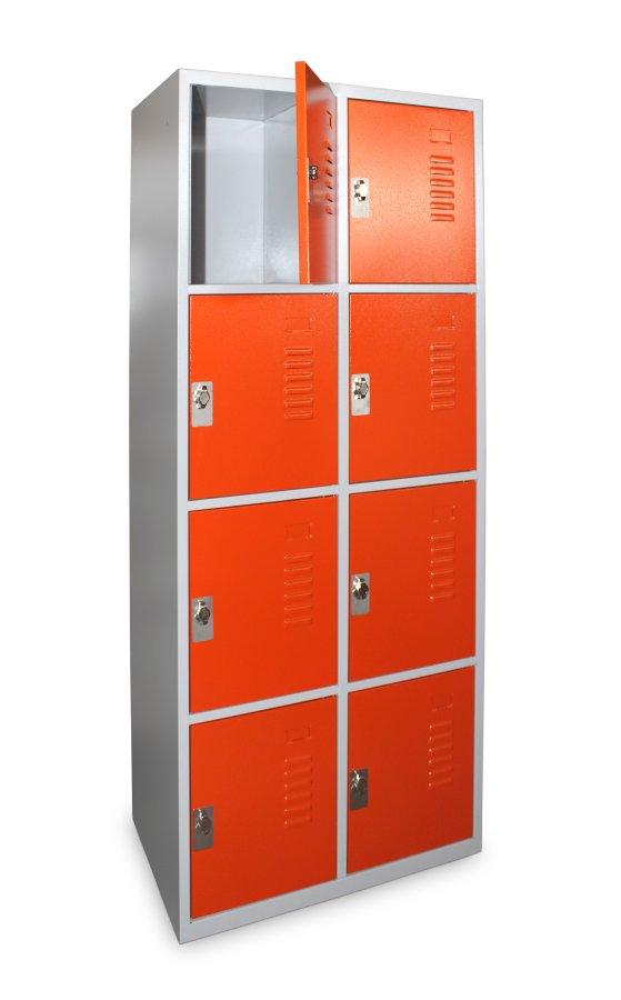 Vestiaire multicases large 8 casiers