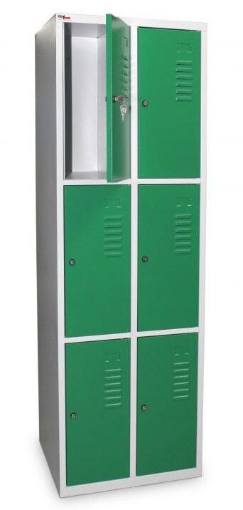 Vestiaire multicases 6 casiers sur 2 colonnes