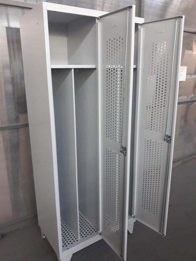 Vestiaire ajouré industrie salissante 2 colonnes