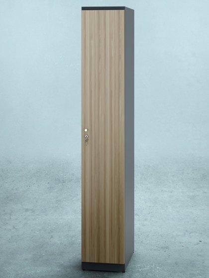 Vestiaire porte bois 1 colonne