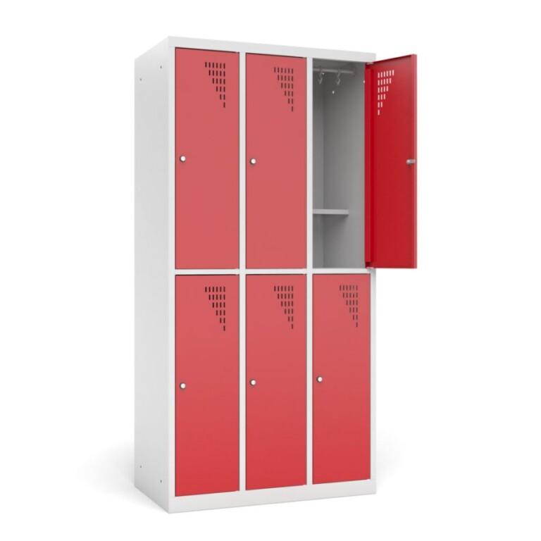 Armoire vestiaire multicases bi-place avec étagère